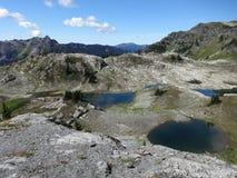 Gesneden gletsjer tarns Stock Foto