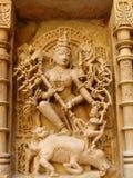 Gesneden God in de Steen van het Zand Royalty-vrije Stock Afbeeldingen