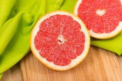 Gesneden Grapefruit Royalty-vrije Stock Afbeelding