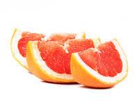 Gesneden Grapefruit Stock Foto's