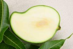 Gesneden groene mango, Stock Foto