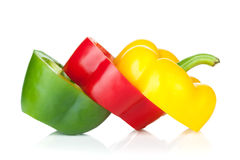 Gesneden groene paprika Stock Fotografie
