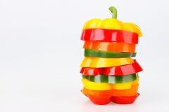 Gesneden groene paprika Stock Foto