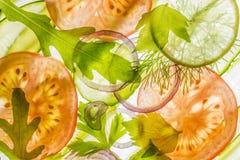 Gesneden groente Royalty-vrije Stock Foto's