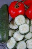 Gesneden groenten stock afbeeldingen