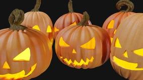 Gesneden Halloween die thuis Jack o lantaarn 3d illustratie pumpking royalty-vrije stock foto's