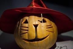 Gesneden Halloween pompoen Royalty-vrije Stock Foto