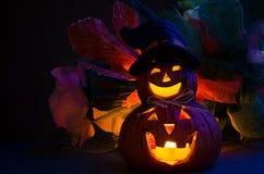 Gesneden Halloween pompoen royalty-vrije stock foto's
