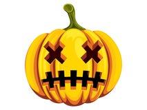 Gesneden Halloween pompoen Royalty-vrije Stock Afbeelding