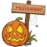 Gesneden Halloween pompoen Royalty-vrije Stock Fotografie