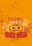 Gesneden Halloween pompoen stock illustratie