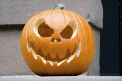 Gesneden Halloween pompoen Stock Foto's