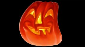 Gesneden Halloween pompoen stock video