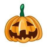 Gesneden Halloween pompoen royalty-vrije illustratie