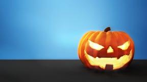 Gesneden Halloween pompoen De pompoen 3d Halloween geeft terug royalty-vrije illustratie