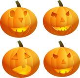 Gesneden Halloween pompoen Enge Hefboom Vector Royalty-vrije Stock Fotografie