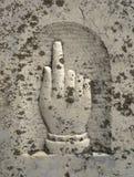 Gesneden Hand die Hemel dicht richten Stock Afbeeldingen