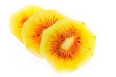 Gesneden het fruit van de kiwi Royalty-vrije Stock Foto's
