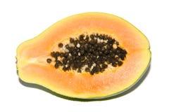 Gesneden het fruit van de papaja Stock Foto's