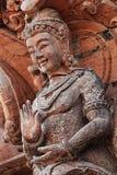 Gesneden houten beeldhouwwerken in de wereld Heiligdom van Waarheid, Pattaya, Thailand Stock Foto