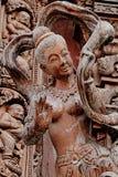 Gesneden houten beeldhouwwerken in de wereld Heiligdom van Waarheid, Pattaya, Thailand Stock Afbeelding