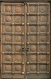 Gesneden houten deur Royalty-vrije Stock Foto's