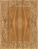 Gesneden houten kader in Keltische stijl Stock Afbeelding