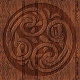 Gesneden houten kader in Keltische stijl Royalty-vrije Stock Foto
