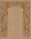 Gesneden houten kader in Keltische stijl Royalty-vrije Stock Afbeeldingen