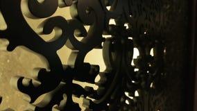 Gesneden houten patroon stock video