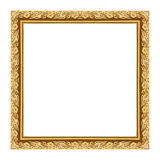 Gesneden houten van de kader uitstekende lege omlijsting geïsoleerd op whit Royalty-vrije Stock Fotografie