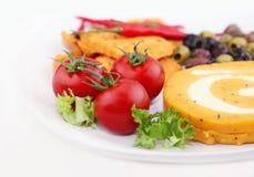 Gesneden kaas, achtergrond Stock Foto