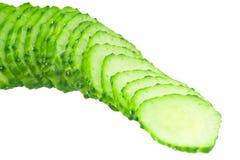 Gesneden komkommer royalty-vrije stock afbeelding