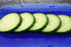 Gesneden komkommer Royalty-vrije Stock Afbeeldingen