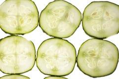 Gesneden komkommer met stijging Royalty-vrije Stock Fotografie