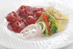 Gesneden koude Turkije en salade Royalty-vrije Stock Fotografie