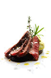 Gesneden lamslapje vlees Stock Foto's
