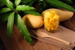 Gesneden mango Royalty-vrije Stock Foto's