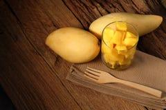 Gesneden mango Royalty-vrije Stock Afbeelding