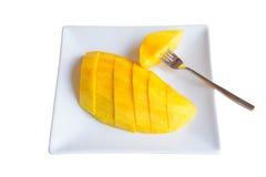 Gesneden mango Stock Foto's