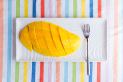 Gesneden mango Royalty-vrije Stock Fotografie