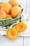 Gesneden Nectarines Stock Afbeelding