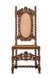 Gesneden okkernootstoel zwaar geïsoleerd op wit Royalty-vrije Stock Foto's