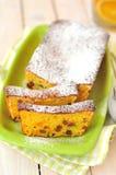 De oranje Cake van het Brood met Sultanarozijnen Royalty-vrije Stock Fotografie