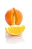 Gesneden oranje stuk Royalty-vrije Stock Foto's