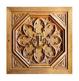 Gesneden oud houten patroon Stock Foto