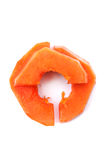 Gesneden papaja   Stock Foto
