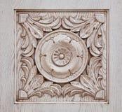 Gesneden patroon op hout Royalty-vrije Stock Foto's