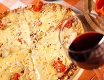 Gesneden pizza Stock Fotografie