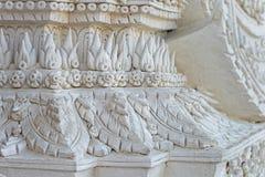 Gesneden pleister het in traditionele stijl van Thailand stock foto